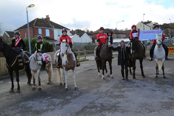 Horses arrive in Portishead