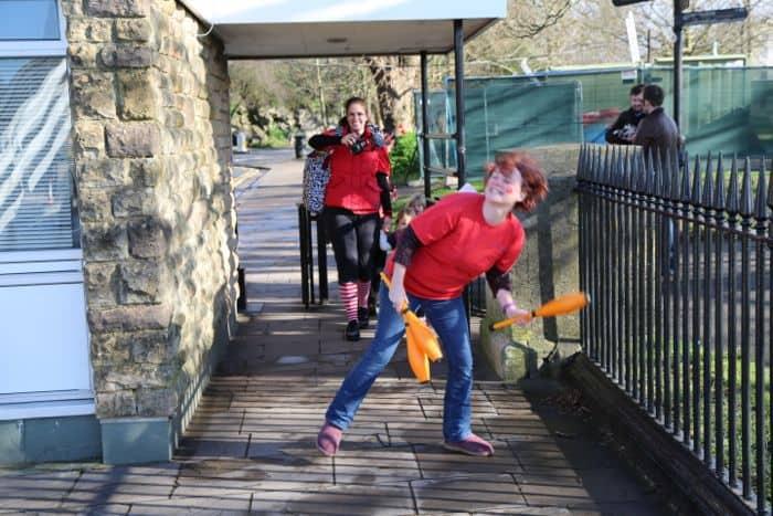 ella juggling and Kath