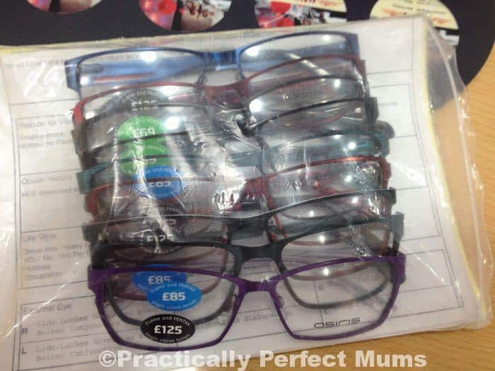 eye test and new glasses at Specsavers