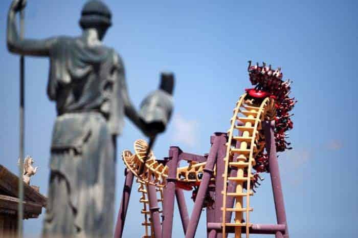 Roller Coaster ride at Terra Mitica Benidorm