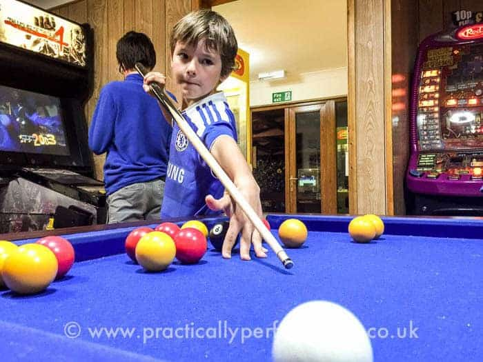 Trevella review - playing pool in the games room