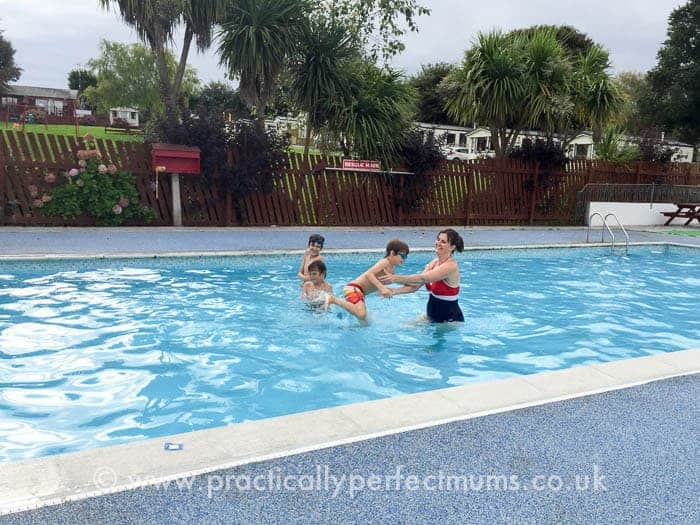 Trevella Park Review - outdoor swimming pool