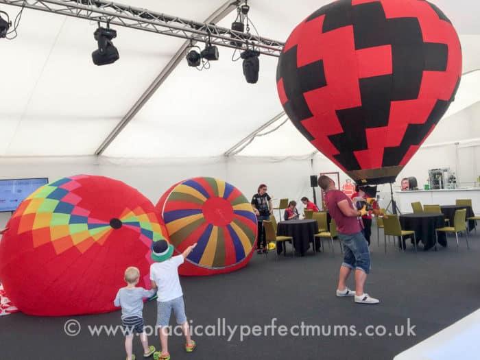 The members enclosure at Bristol Balloon Fiesta 2016