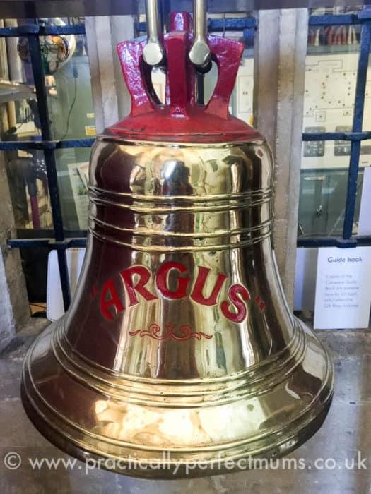 Ship's bell rung before each service