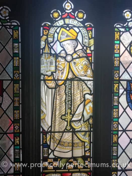 Robert Ftz Harding stained glass window in cloister
