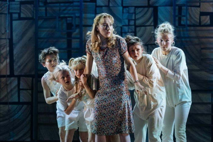 Miss Honey and children in Matilda the Musical at Bristol Hippodrome