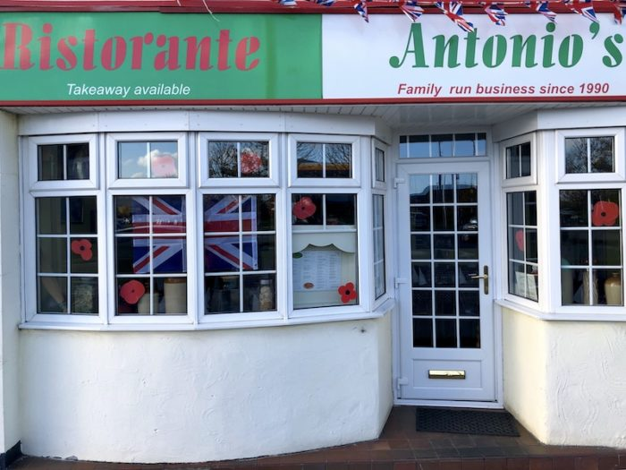 Antonio's Pizzeria Restaurant on Portishead High Street