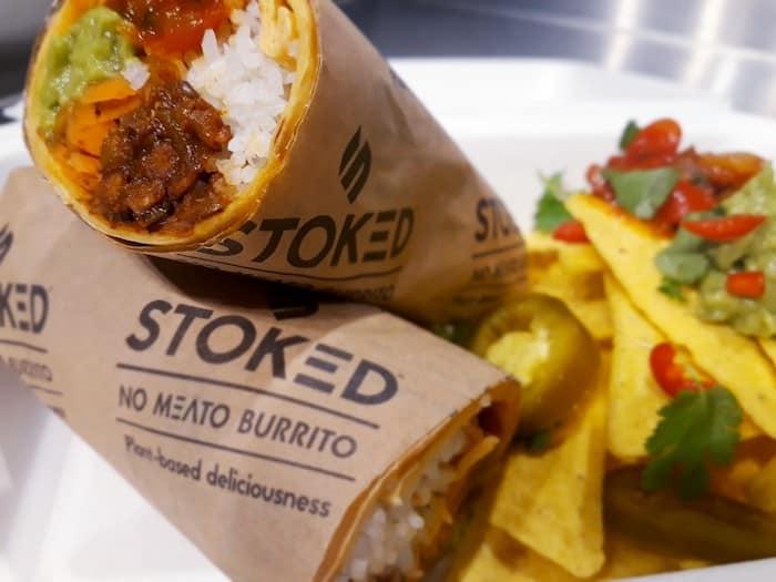 Stoked takeaway - no meat burrito