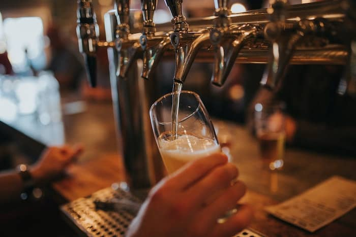 Pouring a pint - Portishead pub and bar guide